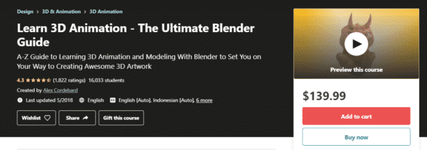 learn 3D animation the ultimate blender guide
