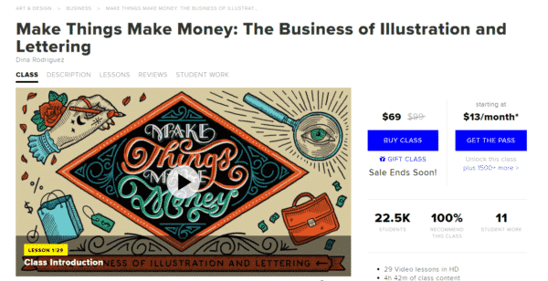 Make things make money drawing course
