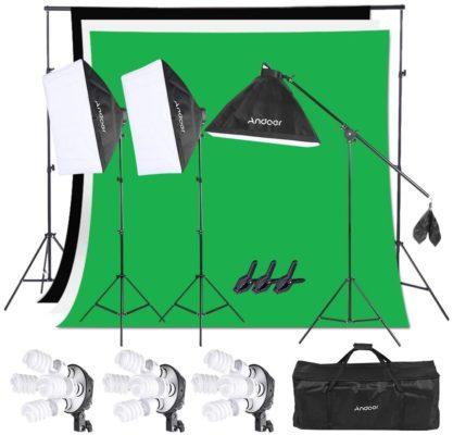 Andoer Photography Studio Softbox Lighting Kit