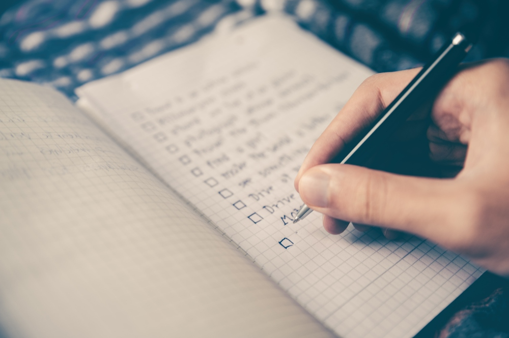Large tasks before small tasks on to do list