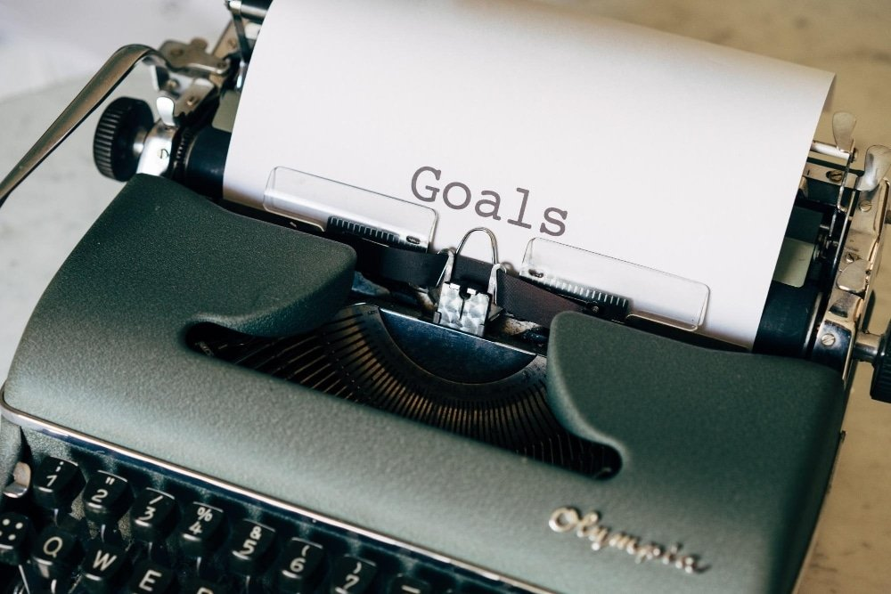 Goals typed oneto paper using typrewriter