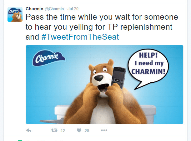 Twitter marketing campaign by Charmin