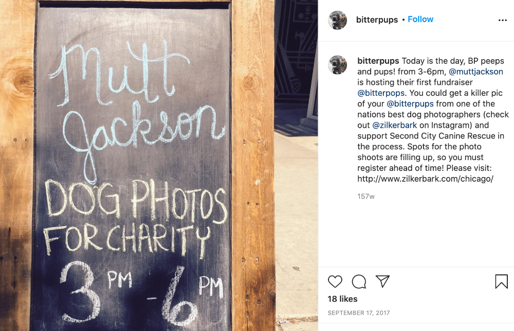 Social media marketing campaign by Bitter Pops