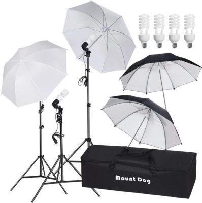 "MountDog 33"" Photography Umbrella Continuous Lighting Kit"