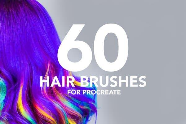 60 Hair brushes for procreate