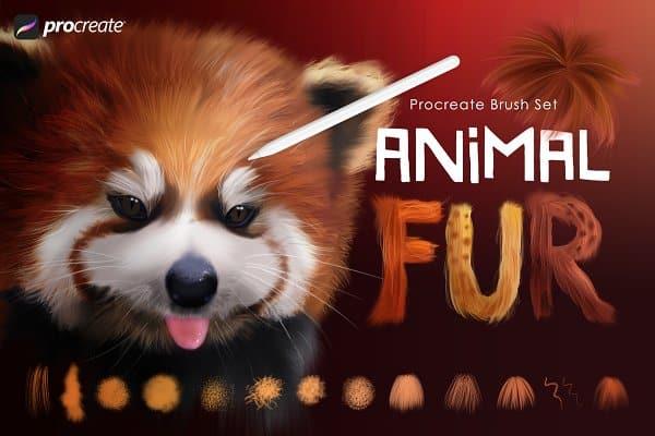 Animal Fur Procreate Brushes - 2