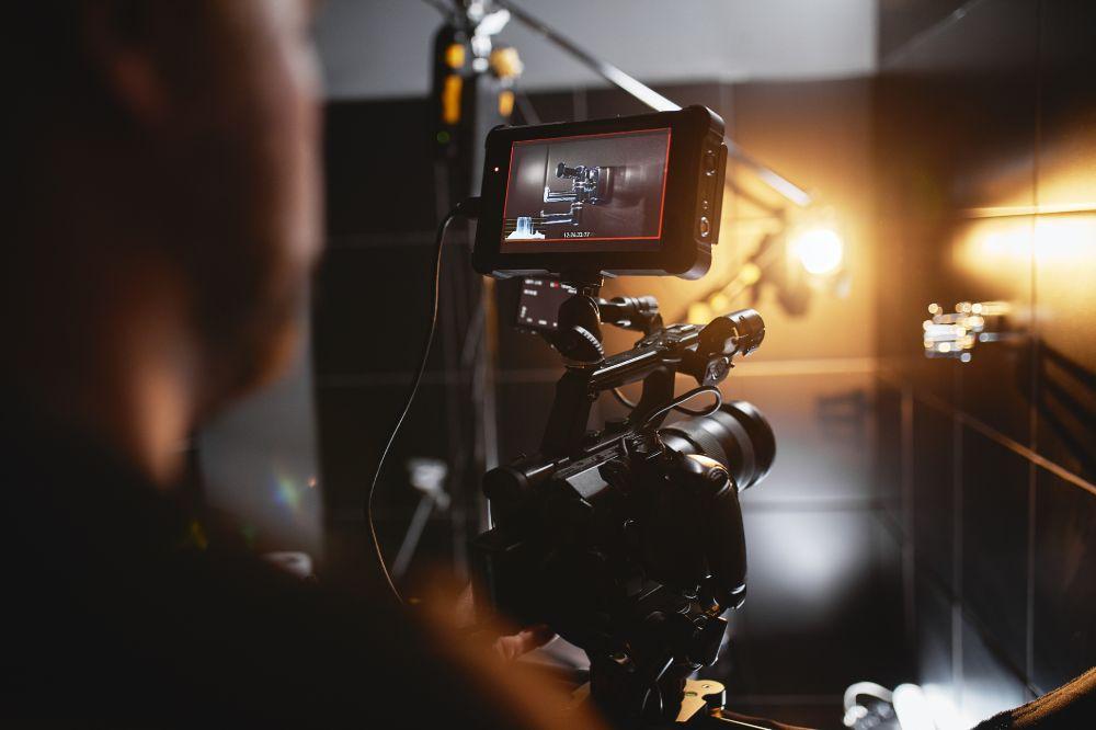 Filming on-set
