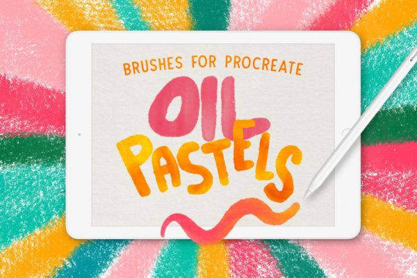 OIL PASTEL BRUSHES FOR PROCREATE