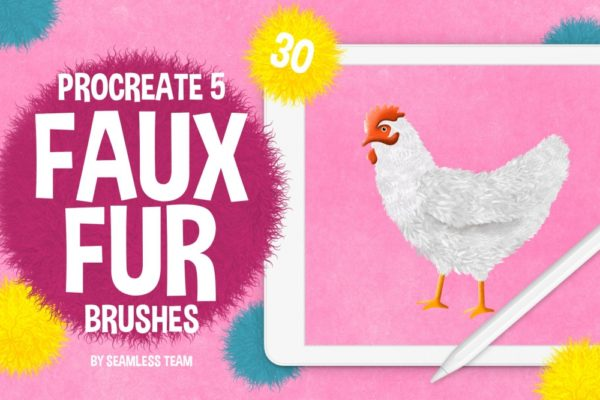 Faux Fur Brushes for Procreate 5