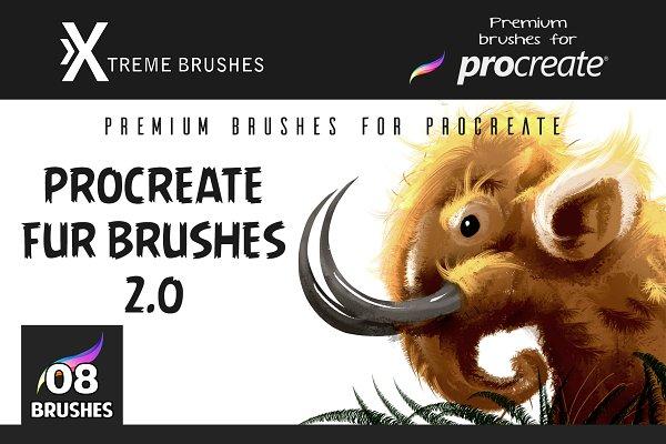 Procreate Fur Brushes 2.0