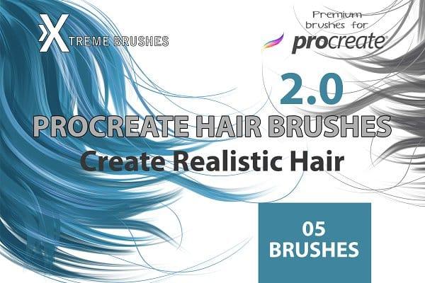 Procreate Hair Brushes 2.0