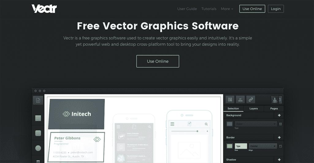 Vectr design tool