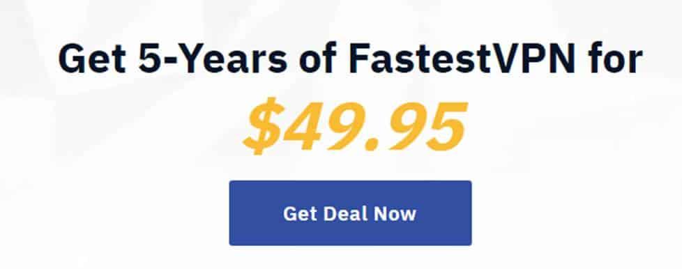 FastestVPN deal pricing