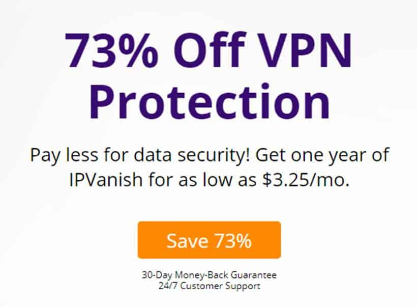 IPVanish discount offer
