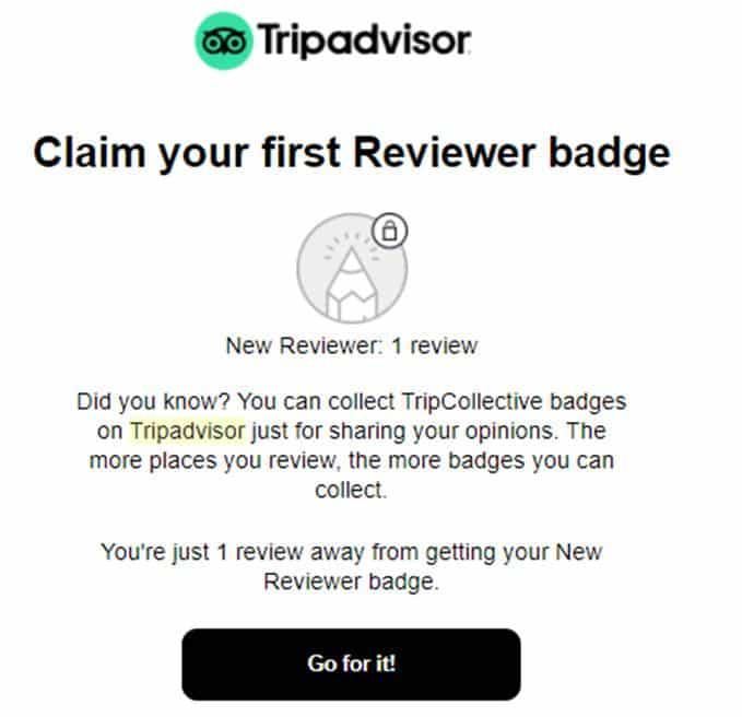 TripAdvisor email personalisation