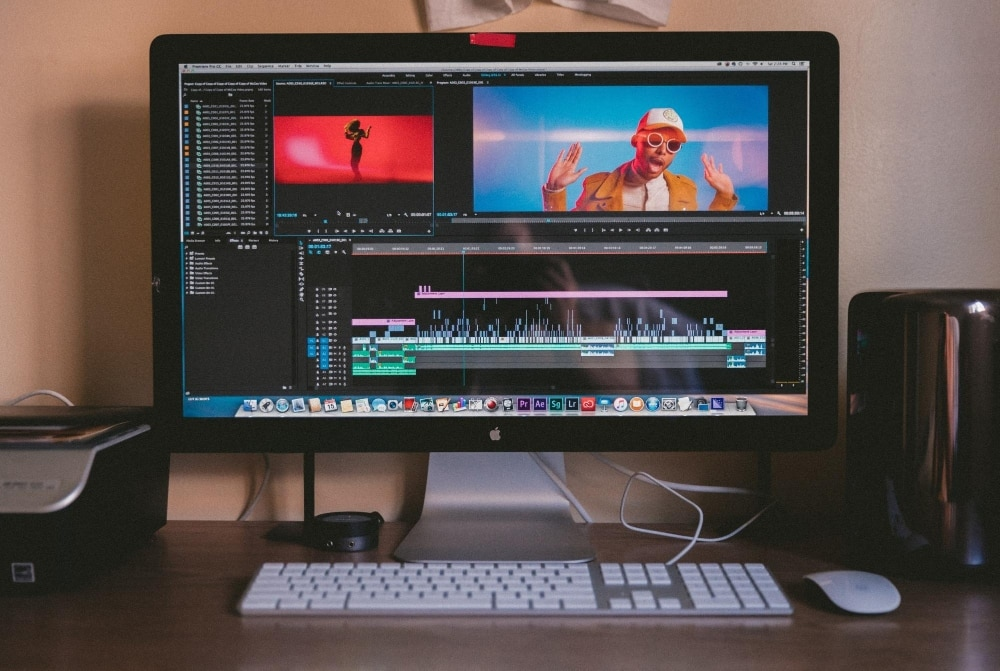 Video editing on desktop computer