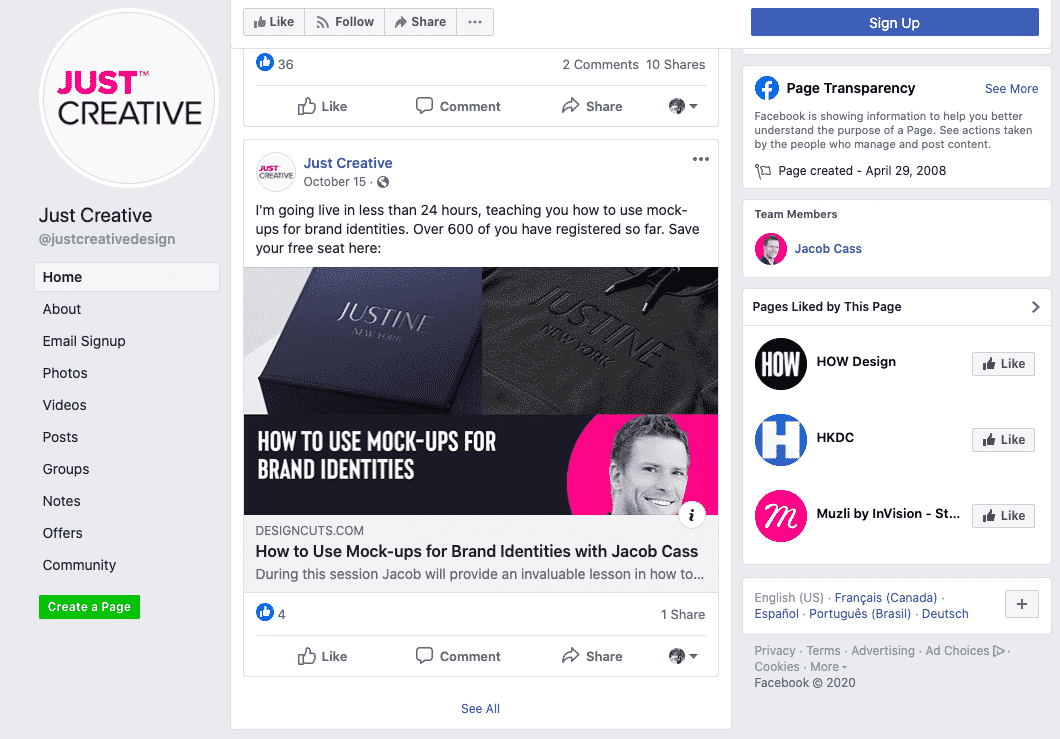 Content promotion by JUST Creative