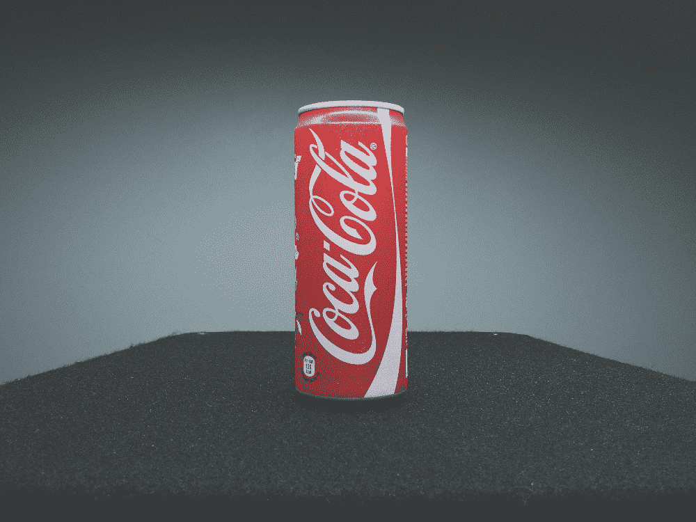 Coca Cola can and logo