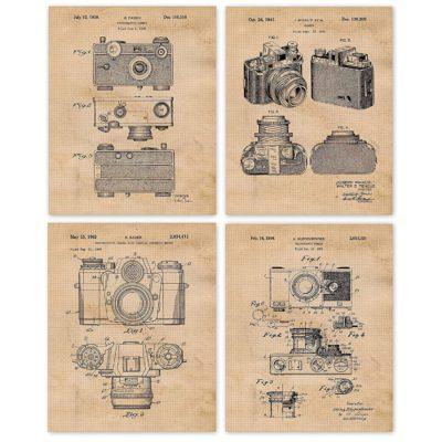 Vintage Classic Camera Patent Poster Prints