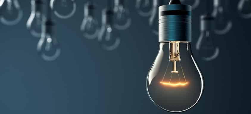 Idea lightbulbs