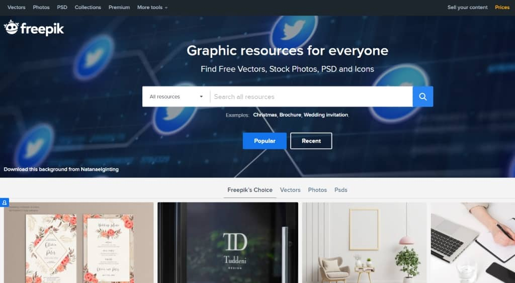 Freepik marketplace for seeling graphic design products