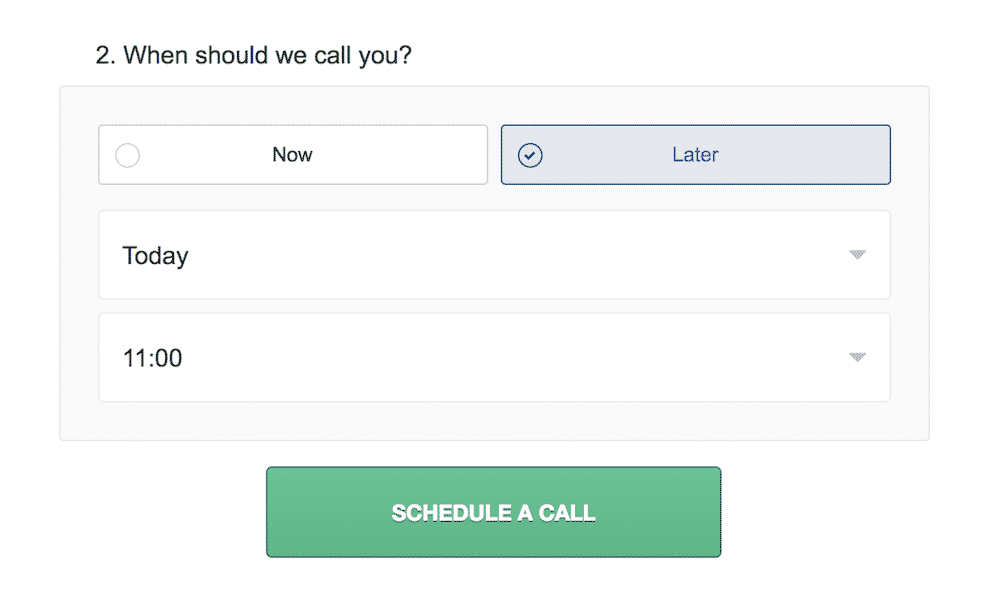 Asking the right questions in online forms