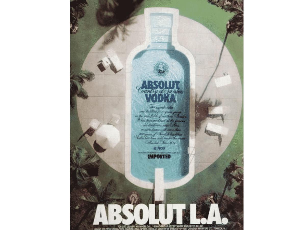Absolut L.A. vodka ad