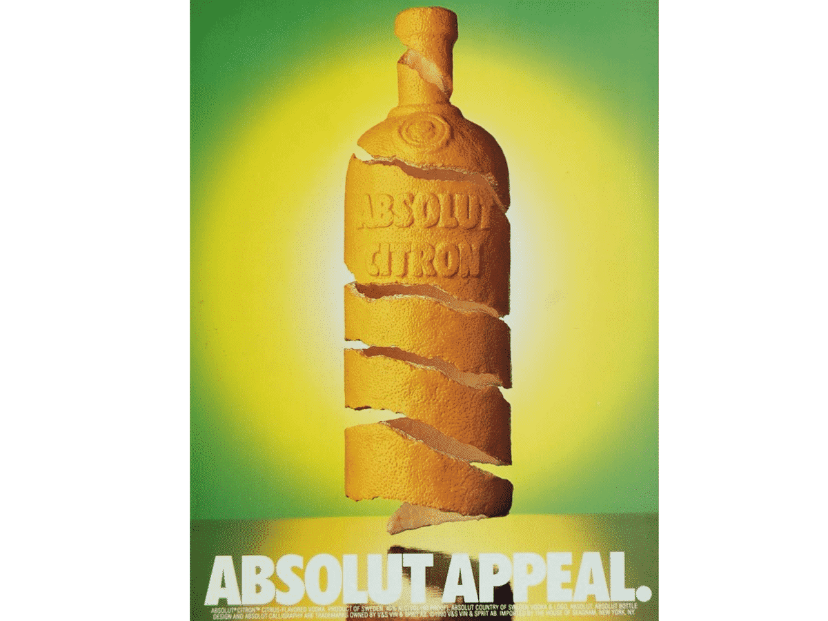 Absolut Appeal vodka ad