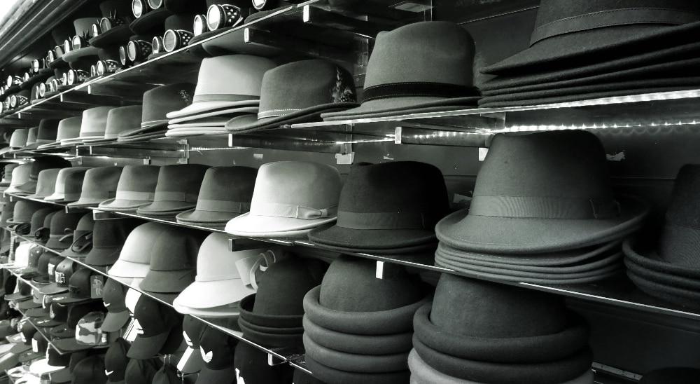 Hats on shelves - Thinking Hats