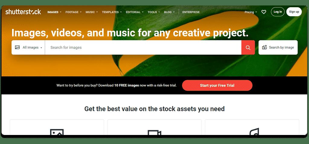 Shutterstock stock images for blogs