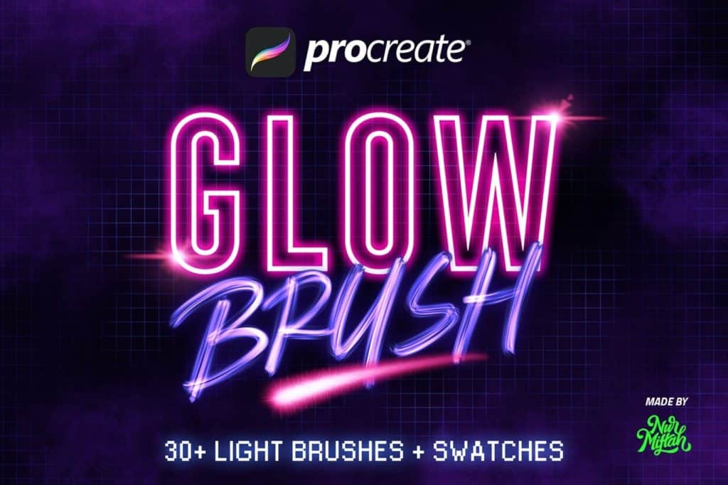 30+ Procreate Glow Brushes