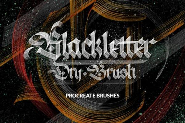 Blackletter Dry Brushes for Procreate