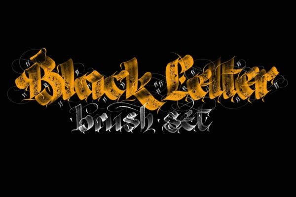 Blackletter Pro Brushes - Procreate