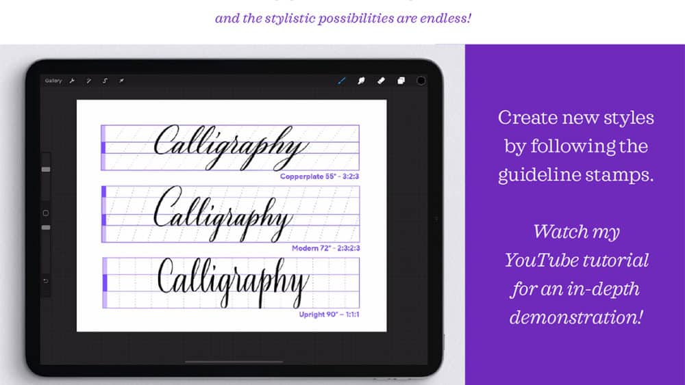 Calligraphy Composition Maker Procreate