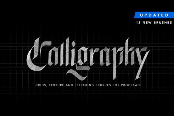 Calligraphy,Grids&more for Procreate