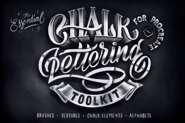 Chalk Lettering Toolkit for Procreate
