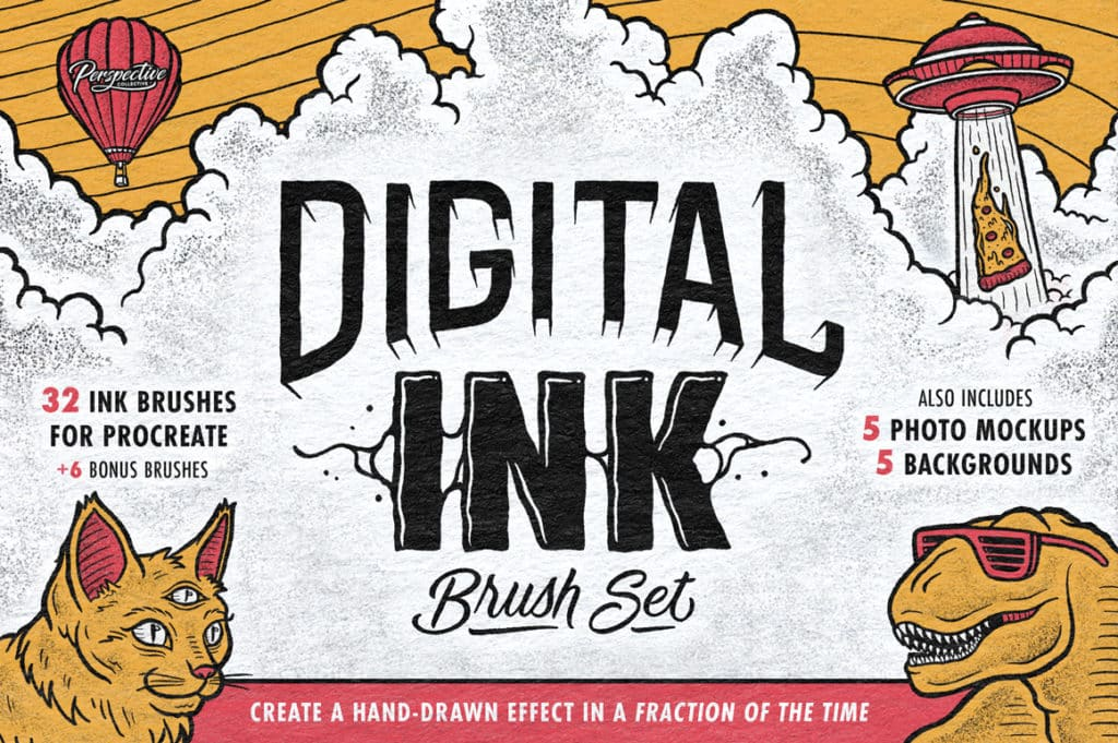 Digital Ink Brush Set for Procreate