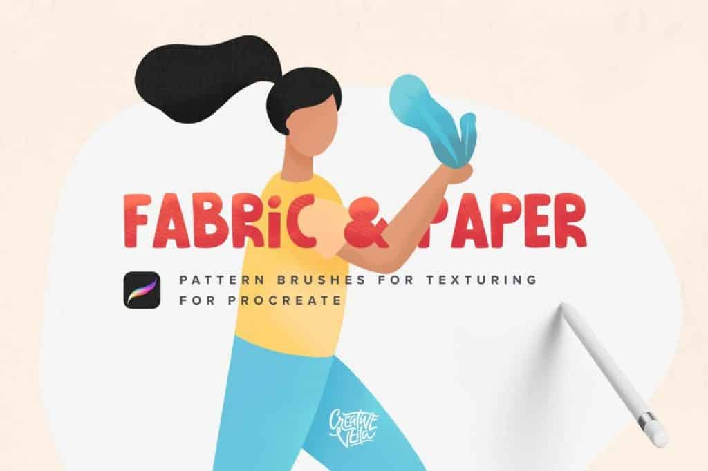 Fabric & Paper Procreate Brushes