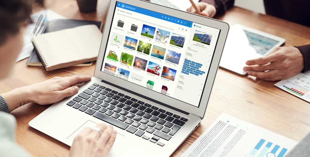 Files on a DAM system - Digital asset management