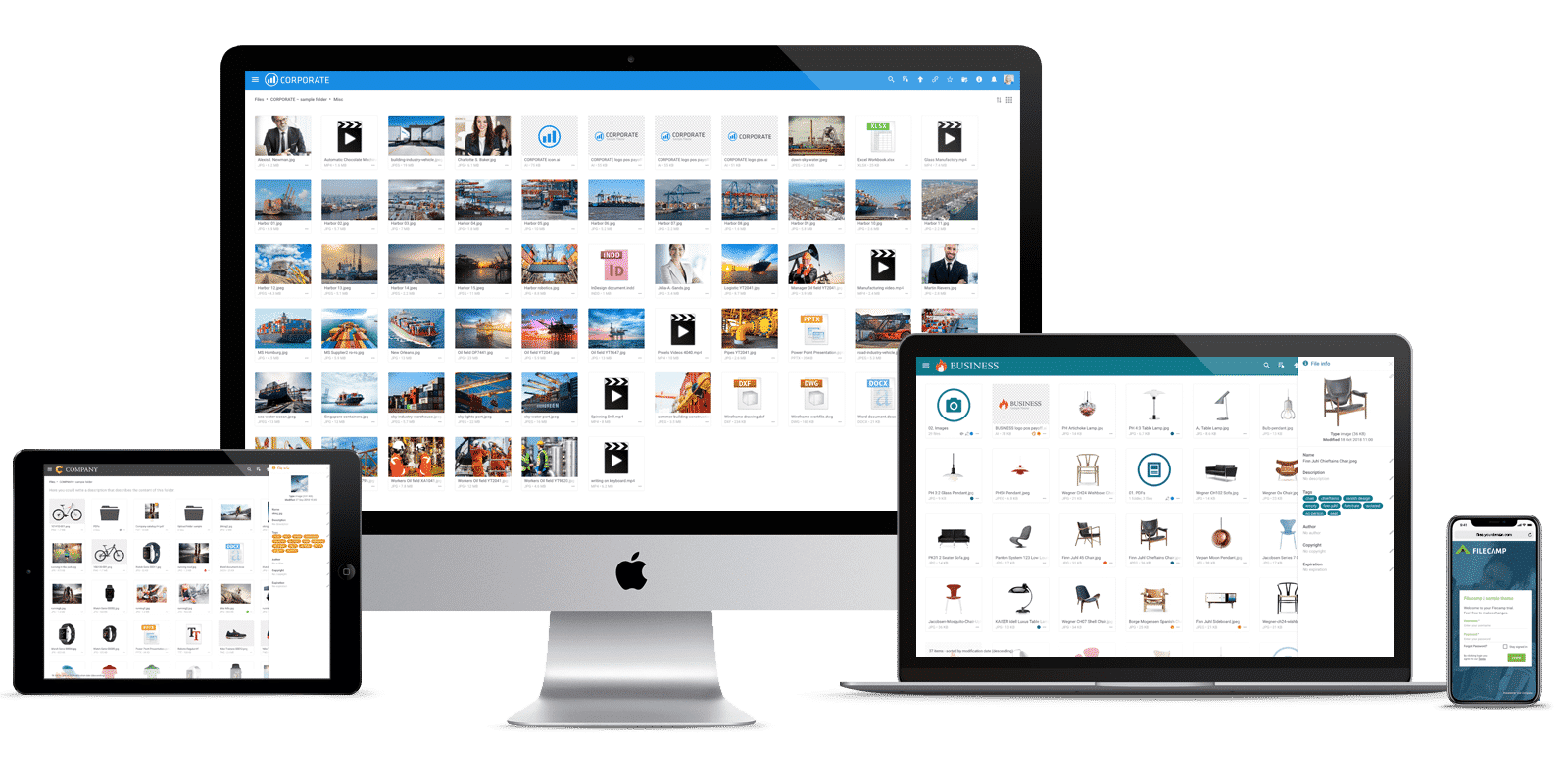 Custom branding with data asset management tools