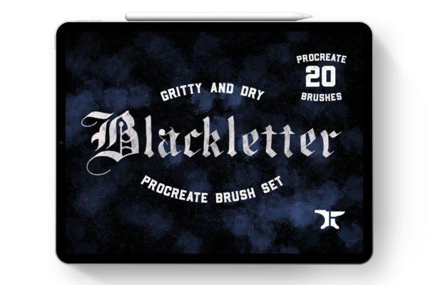 Gothic Blackletter Procreate Brushes