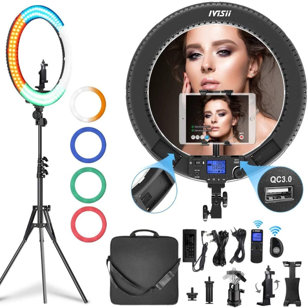 IVISII Ring Light with Remote Controller