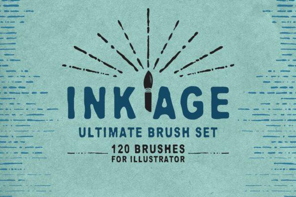 Ink Age Brushes for Adobe Illustrator