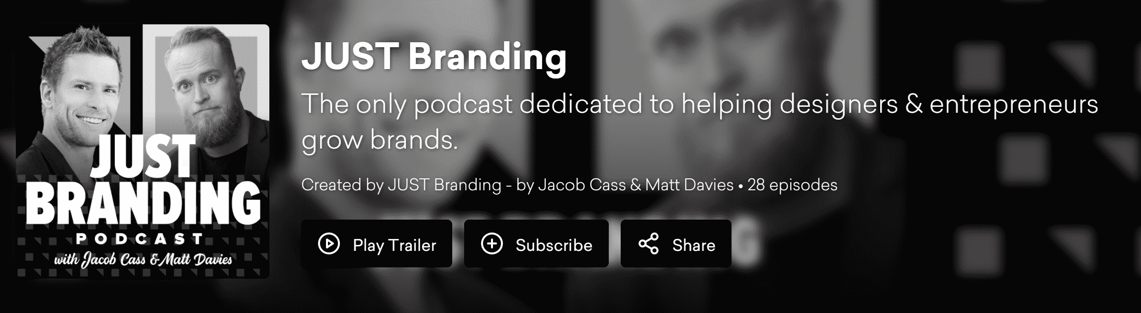 Podcast landing page with key elements