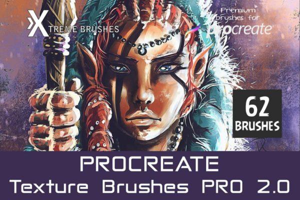 Procreate Texture Brushes Pro 2