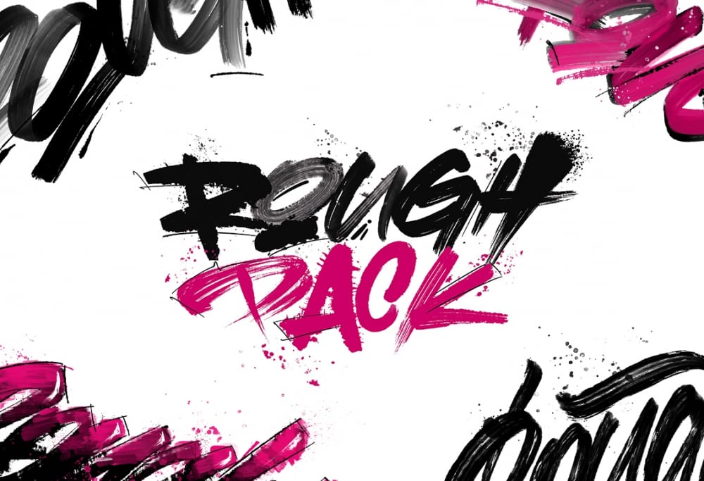 Rough Pack – Texture Brushes For Procreate