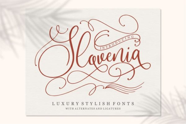 Slovenia - Calligraphy Font