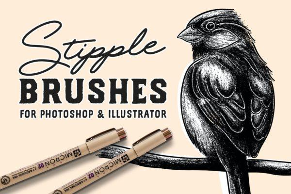 Stipple Brush Set for Photoshop and Illustrator