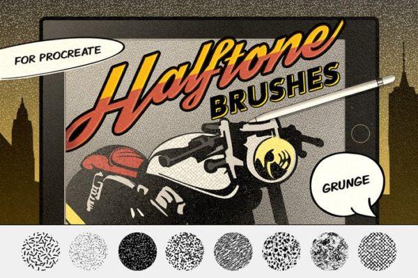 Vintage Comics - Grunge Procreate Brushes