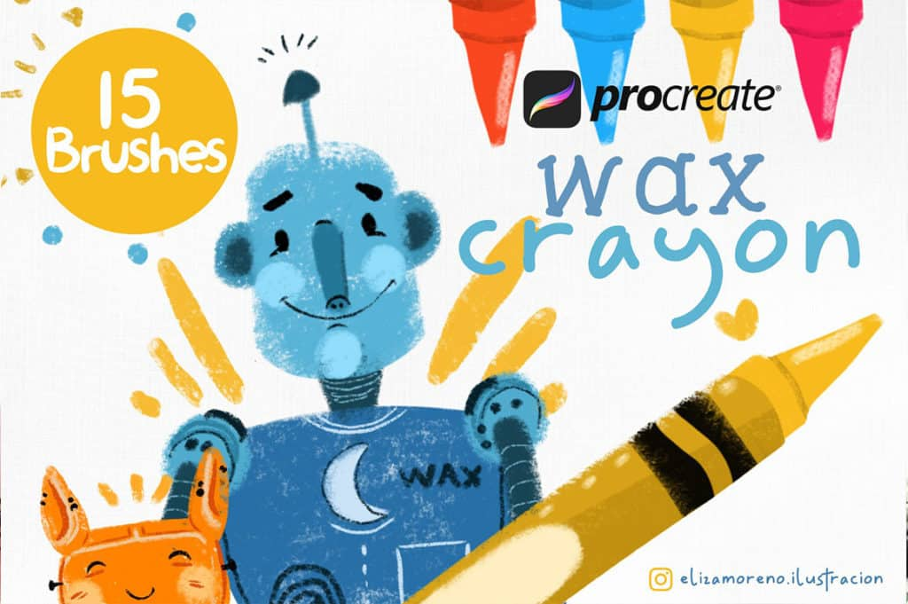 Wax Crayon Brushes For Procreate